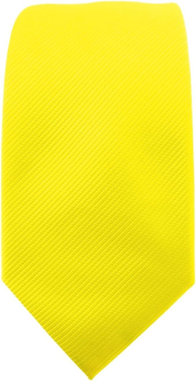 TigerTie - corbata estrecha - amarillo en flor amarilla amarillo ...