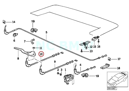 Amazon Com Bmw Genuine Bowd Cable F Fold Top Emergency Mechan