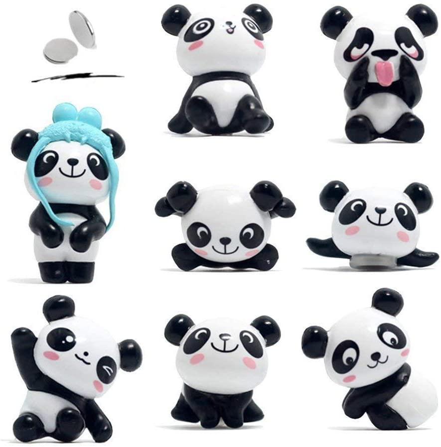 Outtybrave Dessin anim/é Panda Aimant de r/éfrig/érateur Ridge Stickers Stickers Aimant pour r/éfrig/érateur Tableau blanc 8/pcs