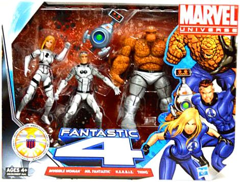 Fantastic Four Costume Invisible Woman (Marvel Universe 3 3/4 Inch Action Figure 3Pack Fantastic Four Freedom Foundation Costumes Invisible Woman, Mr. Fantastic Thing with)