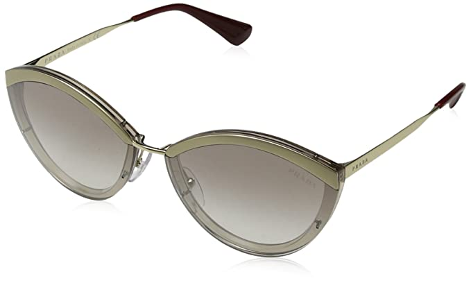 Womens 0PR52US C3O3D0 Sunglasses, Gold/Opal Spotted Brown/Lightbrowngradlightgrey, 37 Prada