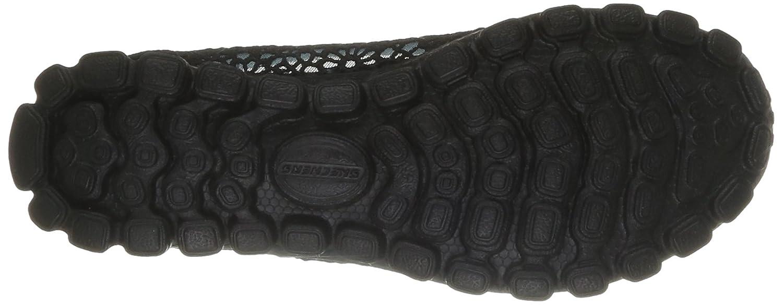 Skechers Sport Women's EZ Flex Sweetpea Slip-On Flat B00FPO8DWS 8 B(M) US|Black Mesh/Suede/Charcoal Trim