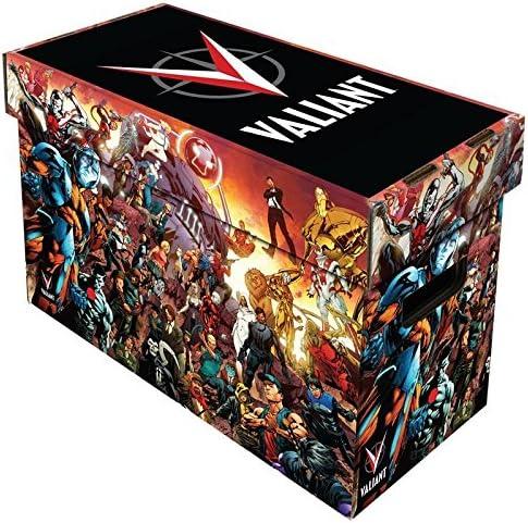 Comic libro caja de almacenamiento de cartón, Valiant Universo arte, Holds 150 – 175 – cómics, Negro: Amazon.es ...