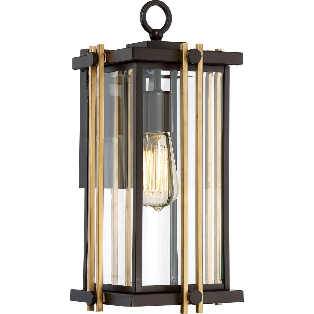 Quoizel One Light Outdoor Wall Lantern GLD8408WT, Medium, Western Bronze