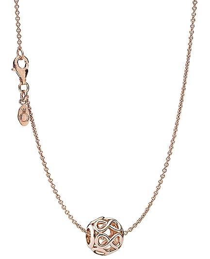 comprare popolare deb9f fc898 Pandora, 08342, collana con ciondolo, simbolo infinito, rosé ...