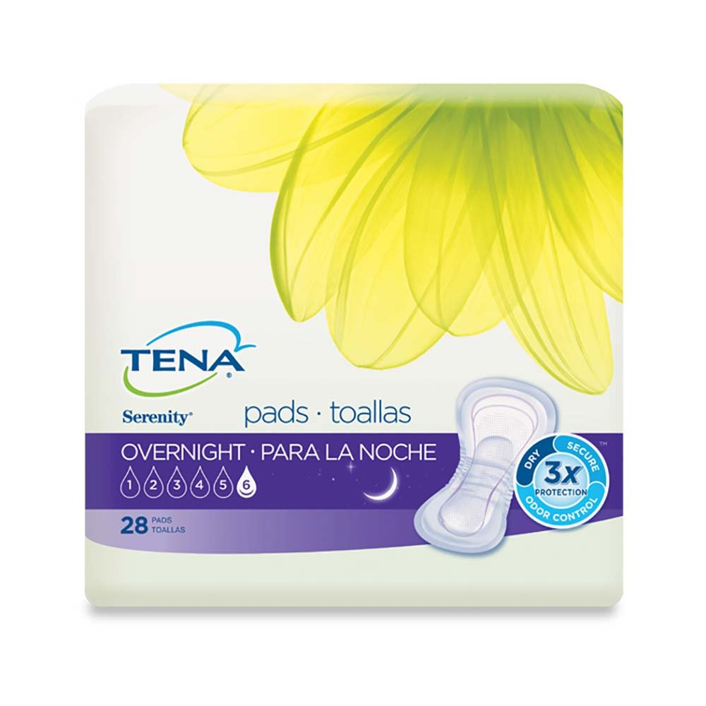 TENA Incontinence Pads for Women, Overnight, 28 Count