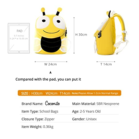 Amazon.com: Mochila con arnés para niños, linda mochila con ...