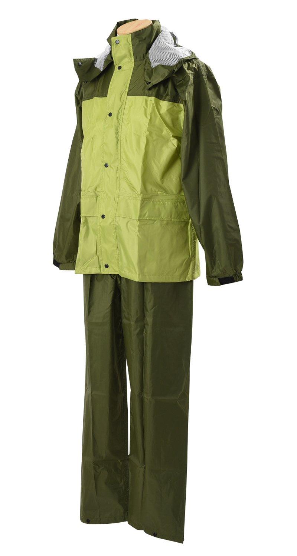 ブレリス レインスーツ 全4色 全6サイズ 上下スーツ カーキ/グリーン 5L 防水透湿 反射テープ付き 10,000mm/cm2 [正規代理店品] B019MO85W4 5L|カーキ/グリーン カーキ/グリーン 5L