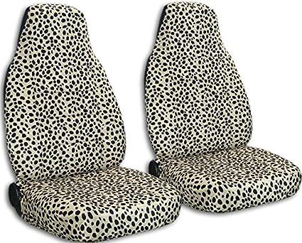 Animal Print Car Seat Covers Tan Ladybug