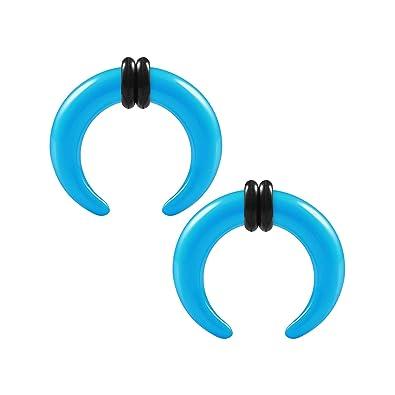 BIGGES - Par de dilatadores de acrílico Azul Claro expansor ...