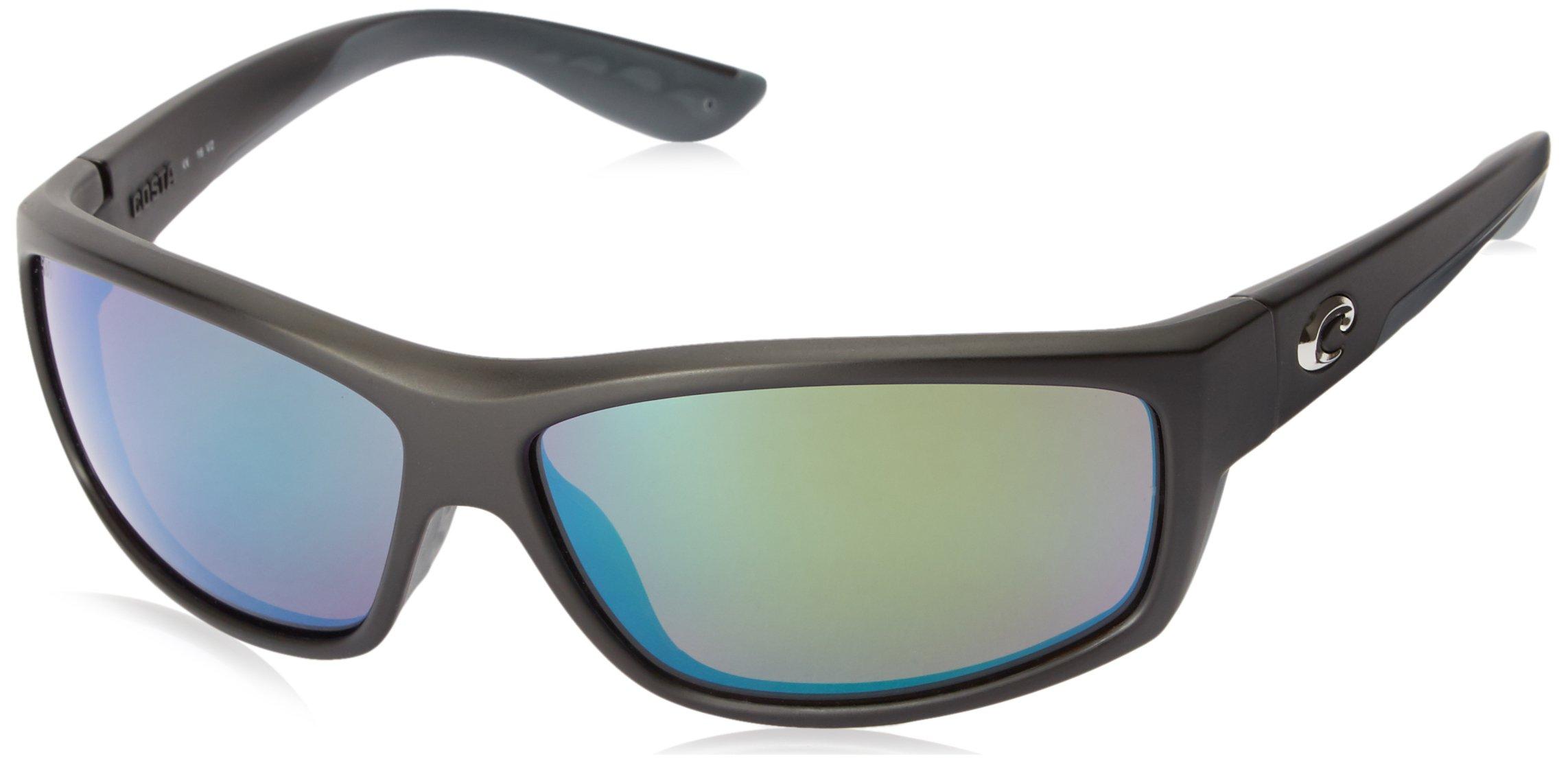 Costa del Mar Unisex-Adult Saltbreak BK 11 OGMGLP Polarized Iridium Wrap Sunglasses, black, 64.5 mm by Costa Del Mar