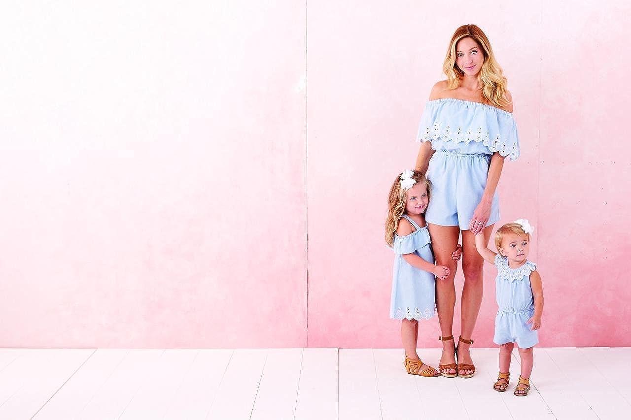 Blue with Eyelet Mud Pie Mini Juniper Girls Dress Easter Spring
