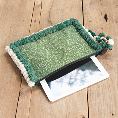 Fair Clutch Unique Ipad Green Woman's Pom Holder Changnoi Trade Pom with Bag dZIxwgq5