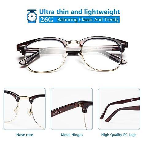 Amazon.com: Livhò Lentes de bloqueo de luz azul, lentes ...