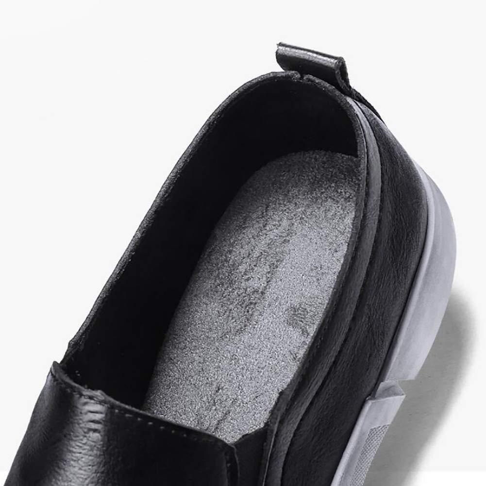 Herrenschuhe Leder & Frühling Herbst Komfort Loafers & Leder Slip Ons Fahr Schuhe Für Casual Deck Schuhe Large Größe schwarz 16f10d