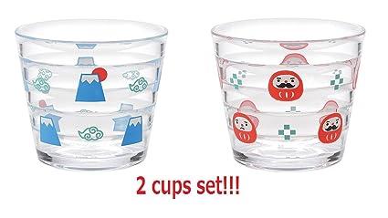Amazon com: [2 cups set!! ] INTERIOR COMPANY Plastic cup set