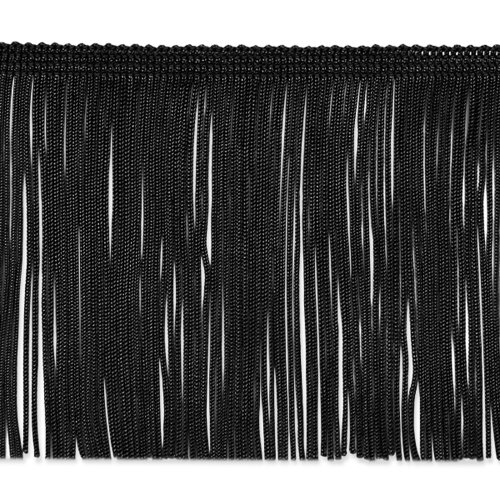 4in Chainette Fringe Trim Black Fabric By The Yard