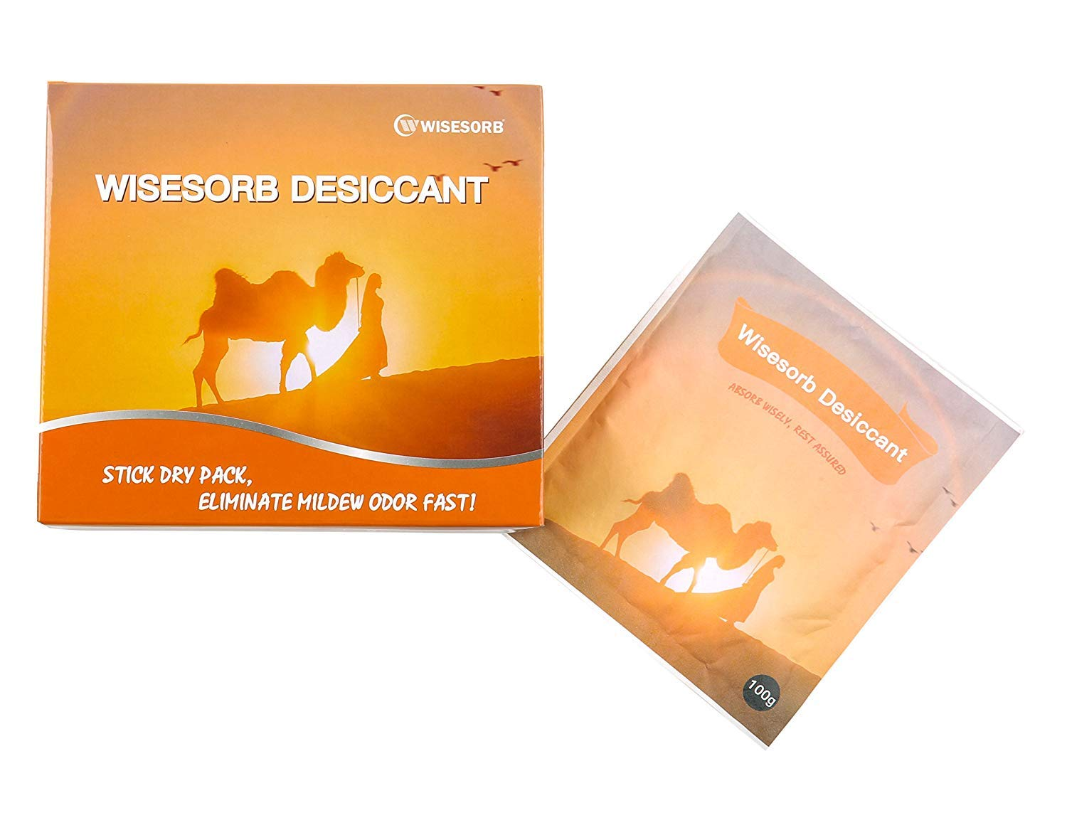 Sample of Wisesorb Dry Pack Adhesive Desiccant