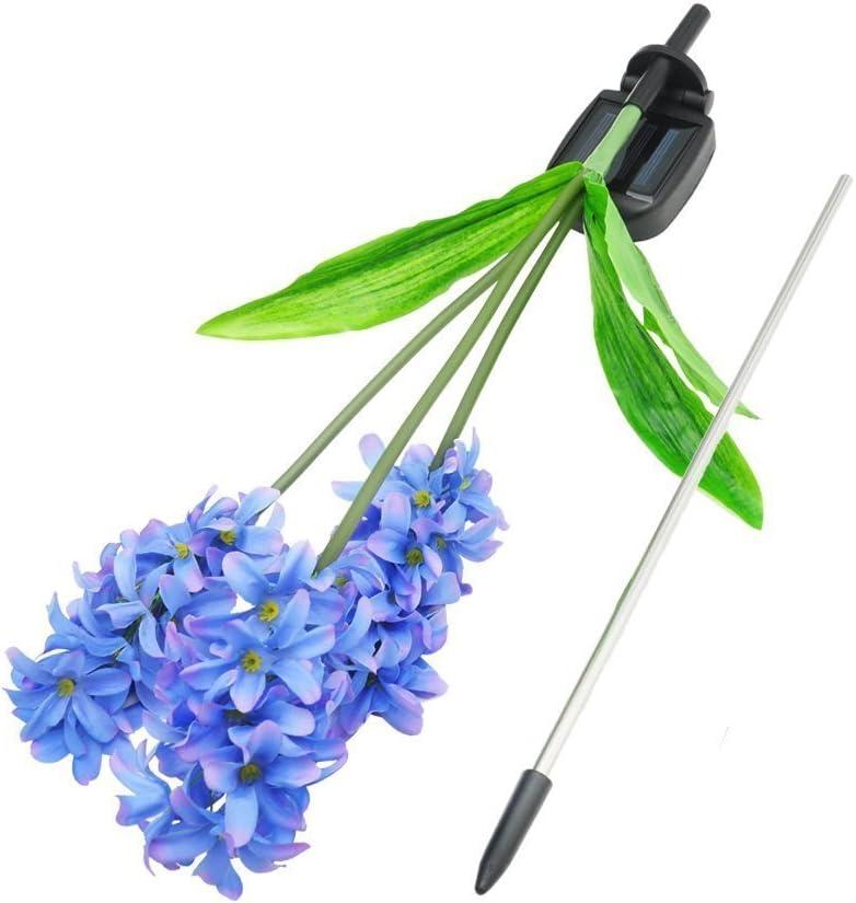 ext/érieur 3/t/êtes jacinthe Fleur Lampes solaires /éclairage de All/ée /étanche pour terrasse pelouse balcon de jardin /éclairage