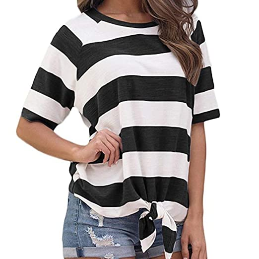 f9782404098c6 Women's Striped Print Long Batwing Sleeve Autumn T-Shirt Polyester Shirt  Crop Top Tee T Shirts Blouse Duseedik