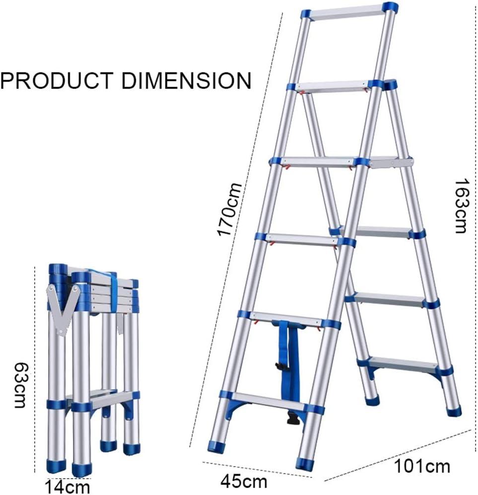 multiusos ALDORR Escalera telesc/ópica de aluminio de alta calidad de 4,40 m sistema de cierre suave . segura y fiable capacidad de carga de hasta 150 kg EN131