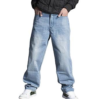 RUIXI Men's Baggy Denim Pants Loose Hip Hop Long Jeans: Amazon.de:  Bekleidung