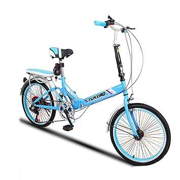 Saturey Bicicleta Ligera Plegable de 20 Pulgadas, Bicicleta ...