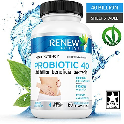 DOUBLE STRENGTH Probiotic 40 Billion - Helps Eliminate Harmful Toxins & Waste! Kick Start Weight loss! Improves Digestions, Bowel Regularity & Increased Energy - 100% Guaranteed!