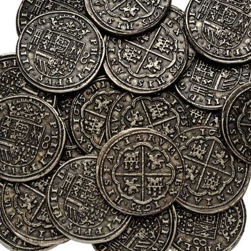 REPLICA PIECES OF EIGHT PIRATES TREASURE REALES SPANISH A...