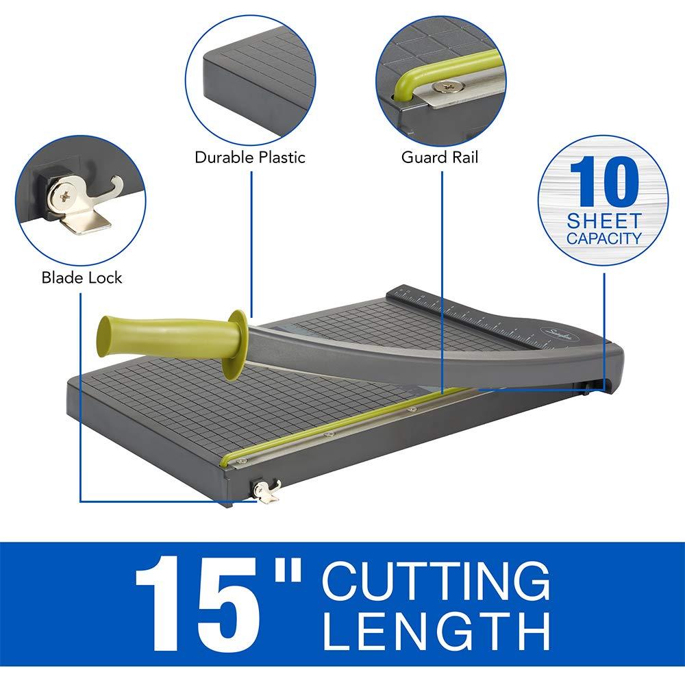 Guillotine Paper Cutter 9315 10 Sheets Capacity ClassicCut Lite 15 in Cut Length Swingline Paper Trimmer