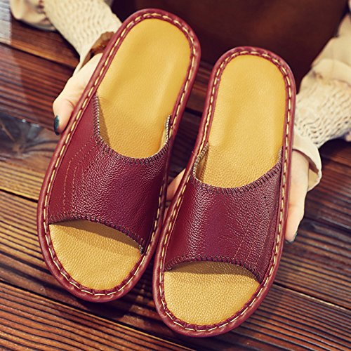fankou Slippers Couples Home Slippers Women Indoor Summer Non-Slip Summer Home Cool Slippers Male Summer Sandals,39-40,B
