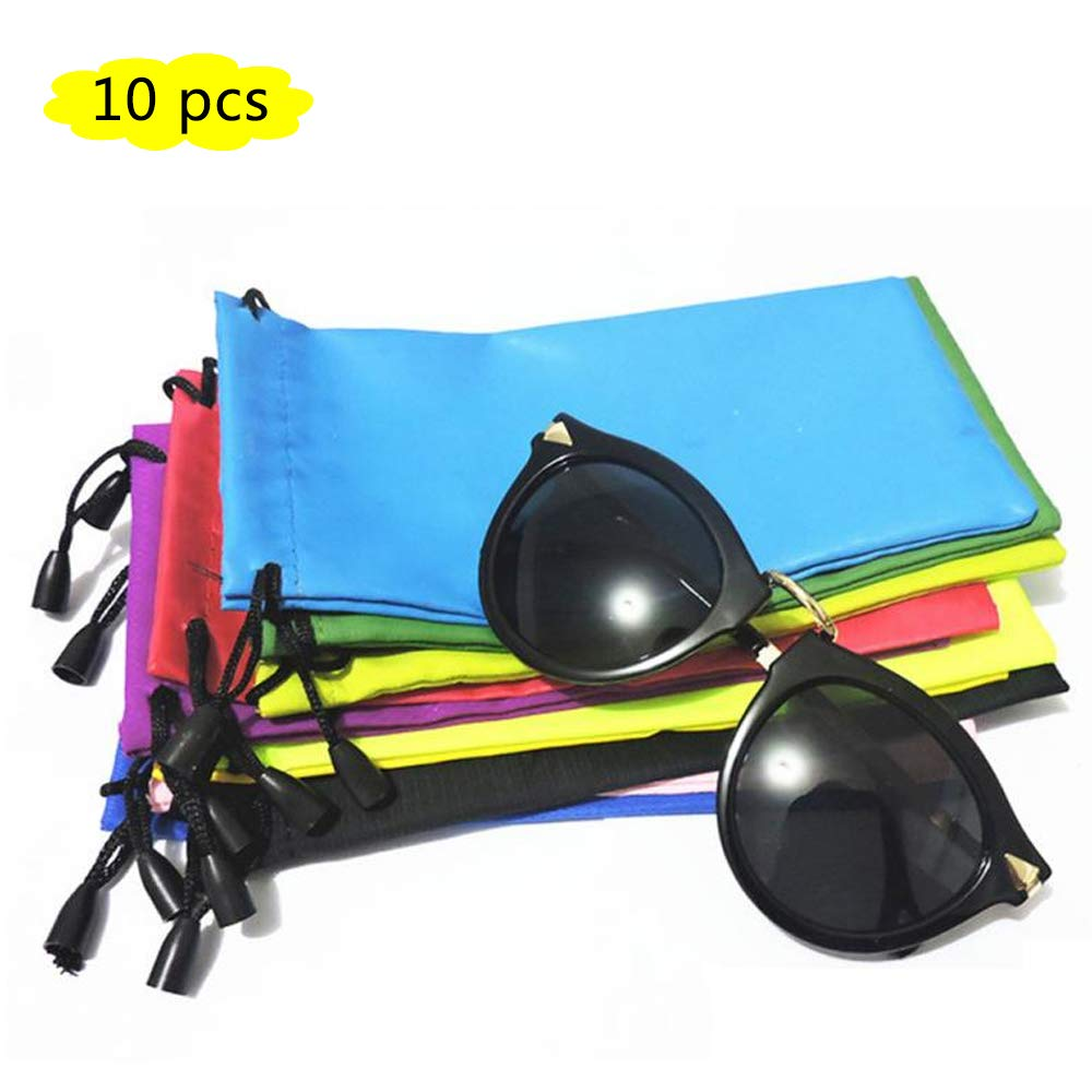Glasses Bag Pouch, Microfiber Sunglasses/Jewelry/Gadgets Bags for Cleaning and Storage