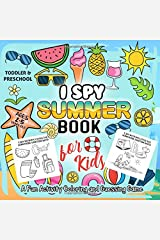 I Spy Summer Book for Kids Ages 2-5: A Fun Activity Happy Summer Things and Other Cute Stuff Coloring and Guessing Game for Little Kids, Toddler and Preschool Paperback
