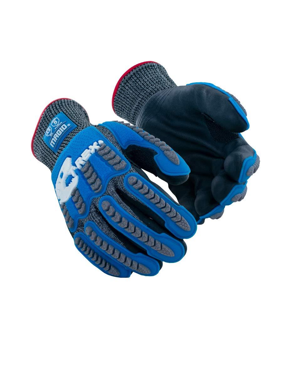 Flame//Heat Resistant Impact Welders Gloves 1 Pair Size 11//XXL, MAGID TRX848XXL Inferno Series