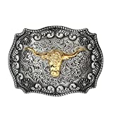 Long horn bull, Cowboy Western belt buckle