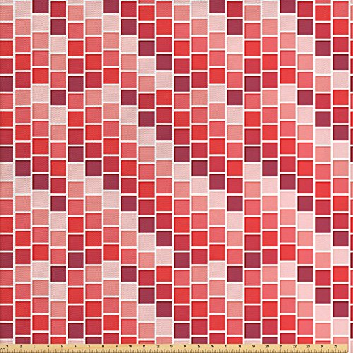 Vertical Rectangle Shape (House Decor Fabric by the Yard by Ambesonne, Tile Rectangle Square Cube Vertical Lines Geometrical Shapes Periodic, Decorative Fabric for Upholstery and Home Accents)