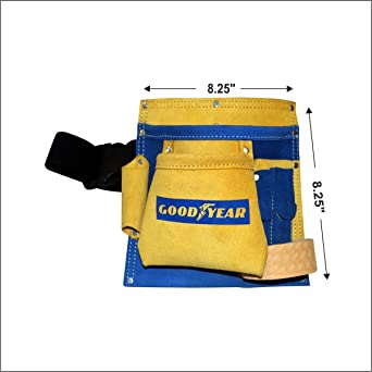 Goodyear 5 Pocket Leather Tool Bag