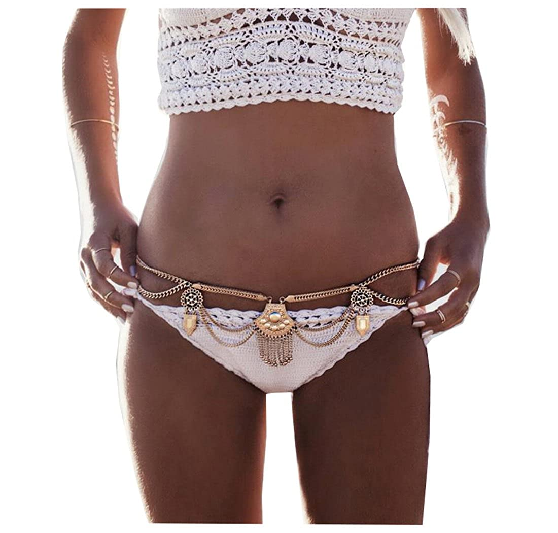 Andyle Dangle Coin Belt Dance Tassel Adjustable Waist Chain Belt Gypsy Bohemian for Women Xuanhe Wu B072L692BM_US