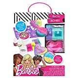 Barbie by Horizon Group USA Make Your Own Bath Bomb Kit Four Custom Create Colorful and Sweet-Smelling, Multi Colored