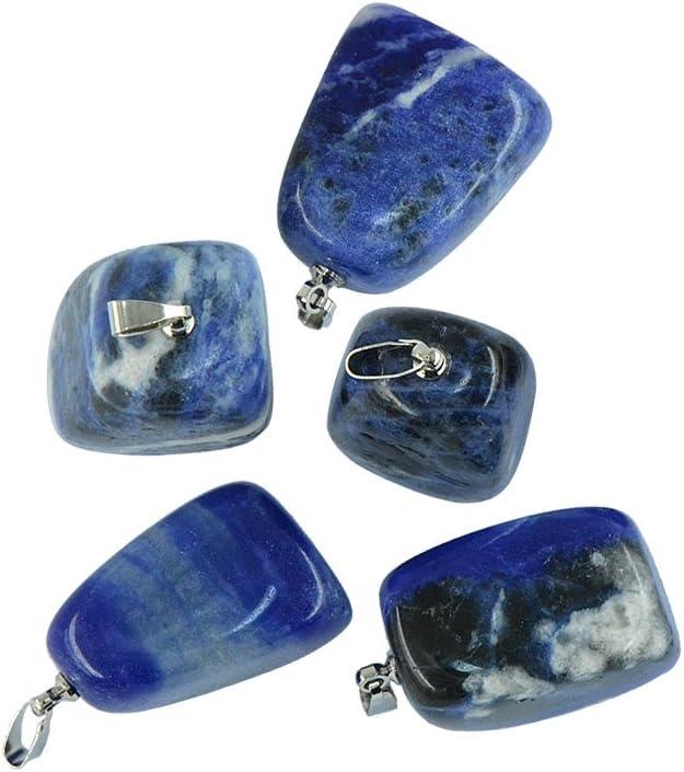 Colgante de Piedra Preciosa Irregular para DIY Collar Pulsera Brazalete - 5 Pedazos - Sodalita Azul