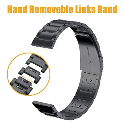 Circle Compatible Samsung Galaxy Watch (46mm) Band, Hand Removable Links Stainless Steel Metal 22mm Replacement Bracelet Strap for Samsung Galaxy ...