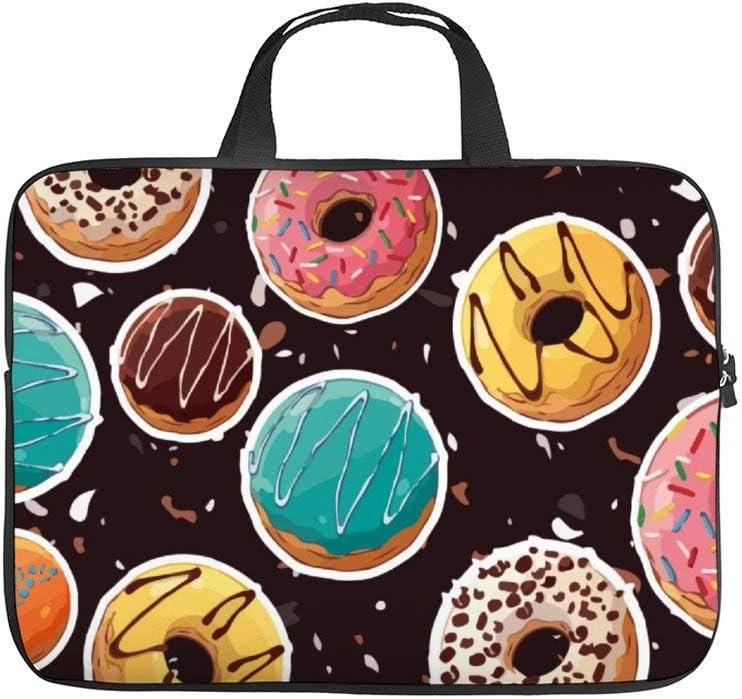 12inch Laptop Shoulder Messenger Bag, Laptop Case, Doughnut Orange Circle Sweetness Baked Goods Baking Food, Laptop Shoulder Bag, Messenger Bag Case, Business/Office/Work Bag