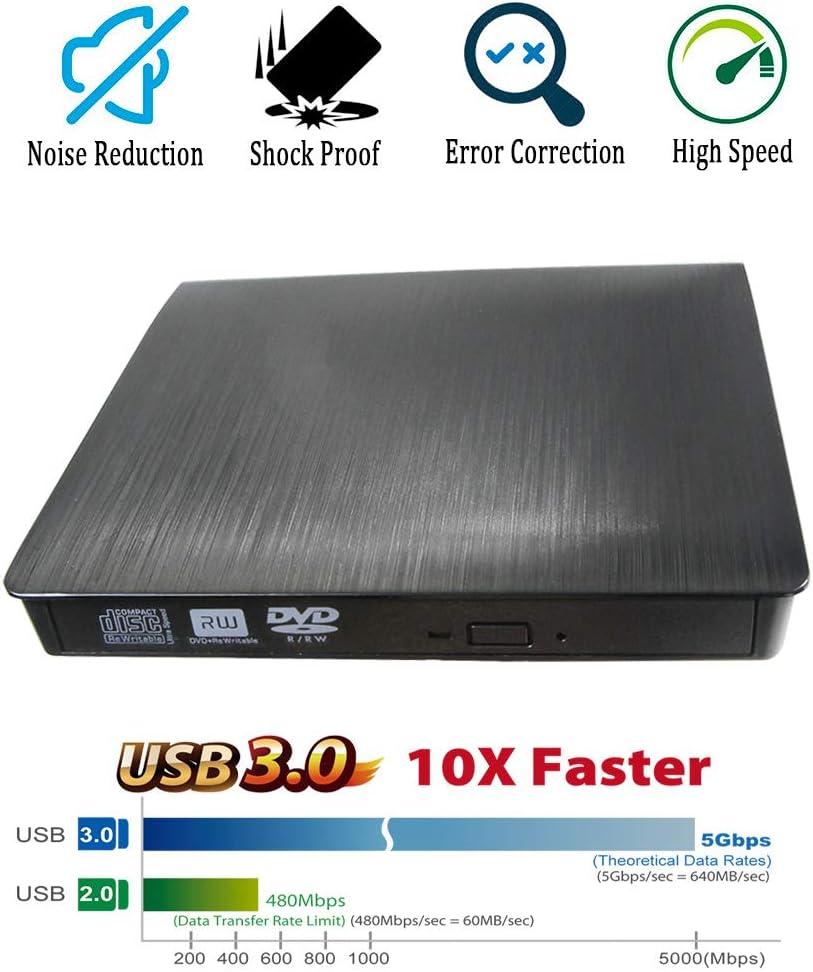USB 2.0 External CD//DVD Drive for Asus A55vj-sx147h