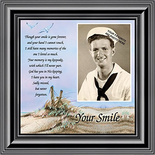 Your Smile, In Memory of Dad, Sympathy Gifts 10x10 6752B ()