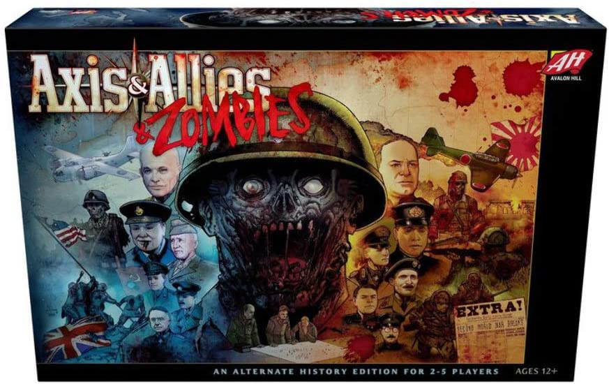 Avalon Hill / Wizards of the Coast: Axis & Allies and Zombies - Juego de Mesa, Multicolor (en inglés) (C50100000): Amazon.es: Juguetes y juegos