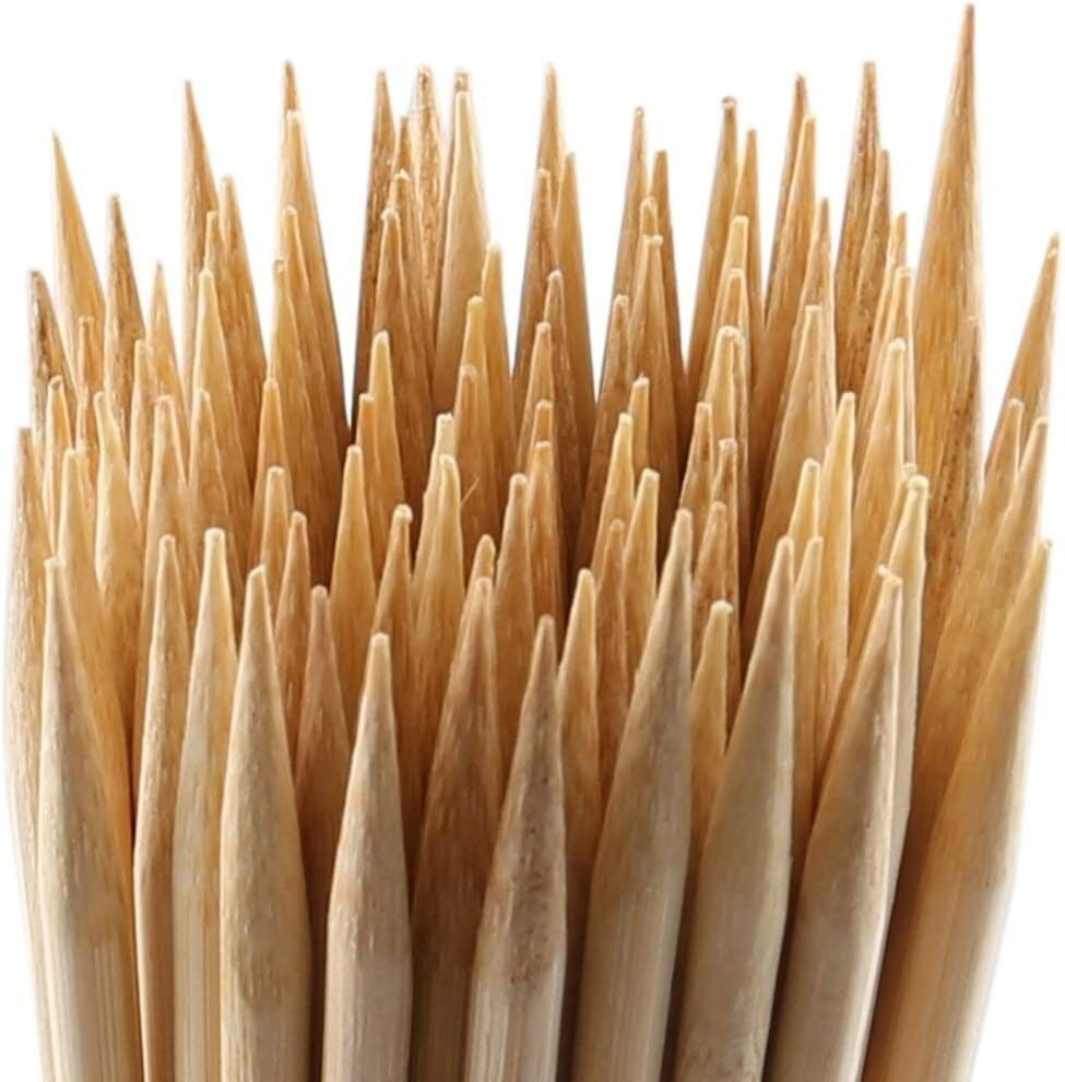 闪电 45cm * 6 mm de Largo for los Pinchos de bambú bambú Barbacoa Palos Accesorios for Parrillas de Barbacoa Natural Hay Kabob Parrilla en el Interior y al Aire Libre (Color : 100pcs)