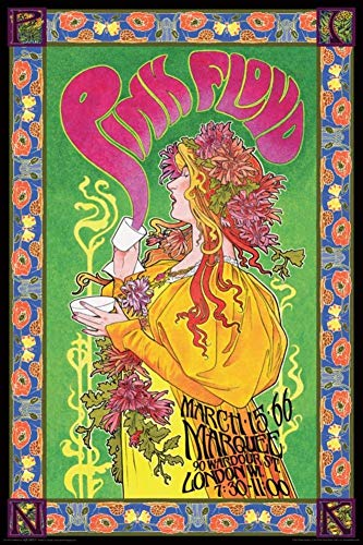 Rock Small Poster - NMR Laminated Pink Floyd Marquee '66 Rock Band Music Poster 24x36