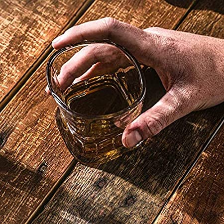 SYZHIWUJIA Whisky Scotch Glass, 4 PCS Gafas de Bebidas de Cristal Ultra Claridad, 100% Lavadoras Lavabo para lavavajillas Safe Safe for Bourbon Licor Cocktail en Las Rocas Licorera