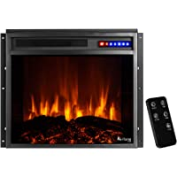 "e-Flame USA Jackson - Mueble para TV y Chimenea, Country rústico, Negro, 25"" x 21"" Insert"