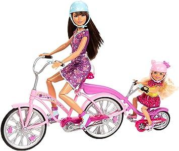 Amazon.es: Mattel X9057 - Bicicleta de Familia Barbie para Dos Hermanas (Incluye muñecas de Skipper y Chelsea y Accesorios): Juguetes y juegos